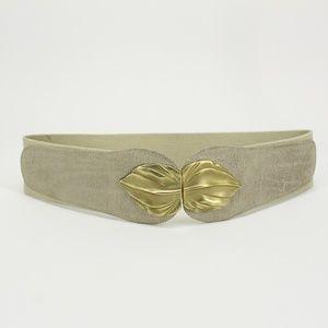 Gold Leaf Stretch Waist Belt